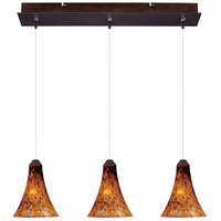 Minx 3 Light 7 inch Bronze Linear Pendant Ceiling Light