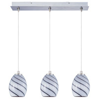 ET2 Minx 3 Light Linear Pendant in Satin Nickel E94837-108SN