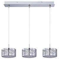 Inca 3 Light 24 inch Polished Chrome Linear Pendant Ceiling Light