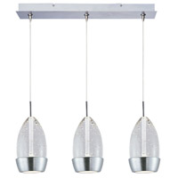 ET2 Luxe 3 Light Linear Pendant in Satin Nickel E94852-91SN