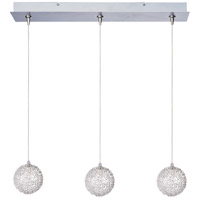 Starburst 3 Light 24 inch Linear Pendant Ceiling Light in Mesh