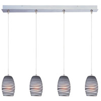 ET2 Minx 4 Light Linear Pendant in Satin Nickel E94904-51SN