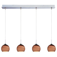 ET2 Minx 4 Light Linear Pendant in Satin Nickel E94915-56SN