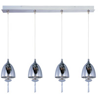 Minx 4 Light 34 inch Satin Nickel Linear Pendant Ceiling Light