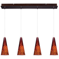 Minx 4 Light Bronze Linear Pendant Ceiling Light