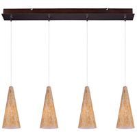 Minx 4 Light 5 inch Bronze Linear Pendant Ceiling Light