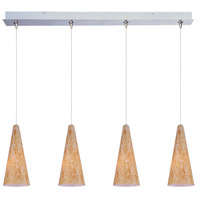 ET2 Minx 4 Light Linear Pendant in Satin Nickel E94930-103SN