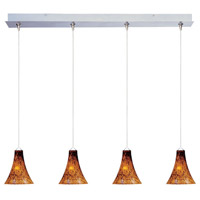 ET2 E94933-104SN Minx 4 Light 34 inch Satin Nickel Linear Pendant Ceiling Light