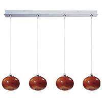 ET2 Minx 4 Light Linear Pendant in Satin Nickel E94935-106SN