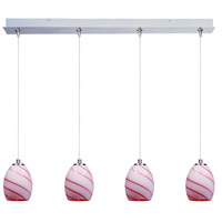 ET2 Minx 4 Light Linear Pendant in Satin Nickel E94936-107SN