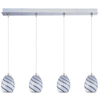 ET2 E94937-108SN Minx 4 Light 34 inch Satin Nickel Linear Pendant Ceiling Light