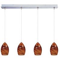 ET2 Minx 4 Light Linear Pendant in Satin Nickel E94940-114SN