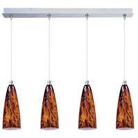 ET2 Minx 4 Light Linear Pendant in Satin Nickel E94943-102SN