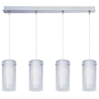 ET2 E94944-10SN Frost 4 Light 34 inch Satin Nickel Linear Pendant Ceiling Light