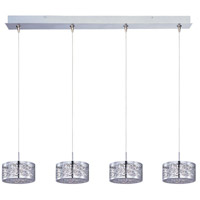 Inca 4 Light 34 inch Polished Chrome Linear Pendant Ceiling Light