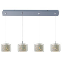 ET2 E94949-10PC Minx 4 Light 35 inch Polished Chrome Linear Pendant Ceiling Light in Clear/White photo thumbnail