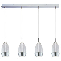 Luxe LED 35 inch Satin Nickel Linear Pendant Ceiling Light