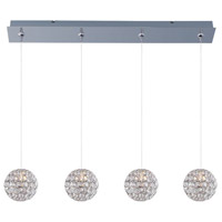 Brilliant 4 Light 35 inch Polished Chrome Linear Pendant Ceiling Light