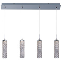 Shanell LED 35 inch Polished Chrome Multi-Light Pendant Ceiling Light