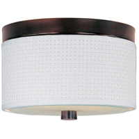 ET2 E95000-100OI Elements 2 Light 10 inch Oil Rubbed Bronze Flush Mount Ceiling Light in White Weave