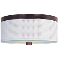ET2 E95002-100OI Elements 2 Light 14 inch Oil Rubbed Bronze Flush Mount Ceiling Light in White Weave