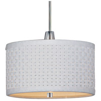 Elements 1 Light 6 inch Satin Nickel Mini Pendant Ceiling Light in White Weave
