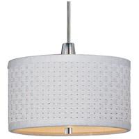 ET2 E95050-100SN Elements 1 Light 6 inch Satin Nickel Mini Pendant Ceiling Light in White Weave