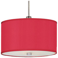 Elements 1 Light 6 inch Satin Nickel Mini Pendant Ceiling Light in White Leopard, Crimson Silk