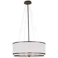 Elements 3 Light 23 inch Oil Rubbed Bronze Pendant Ceiling Light in Amber Lava, White Pleat