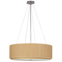 ET2 E95065-101SN Elements 3 Light 29 inch Satin Nickel Pendant Ceiling Light in Grass Cloth photo thumbnail