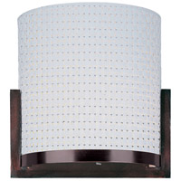ET2 E95080-100OI Elements 1 Light 7 inch Oil Rubbed Bronze Wall Sconce Wall Light in White Weave photo thumbnail