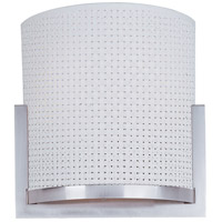 Elements 1 Light 7 inch Satin Nickel Wall Sconce Wall Light in White Weave