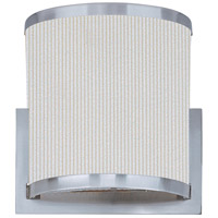 ET2 E95080-102SN Elements 1 Light 7 inch Satin Nickel ADA Wall Sconce Wall Light in Amber Lava, White Pleat