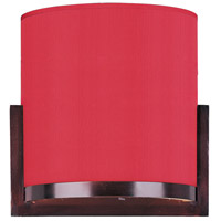 Elements 1 Light 7 inch Oil Rubbed Bronze Wall Sconce Wall Light in White Leopard, Crimson Silk
