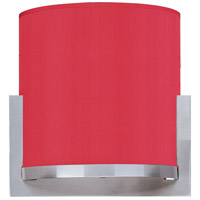 ET2 E95080-105SN Elements 1 Light 7 inch Satin Nickel ADA Wall Sconce Wall Light in White Leopard, Crimson Silk