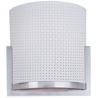 Elements 2 Light 11 inch Satin Nickel Wall Sconce Wall Light in White Weave