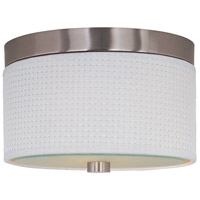 ET2 E95100-100SN Elements 2 Light 10 inch Satin Nickel Flush Mount Ceiling Light in White Weave