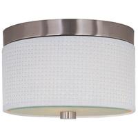 ET2 E95100-100SN Elements 2 Light 10 inch Satin Nickel Flush Mount Ceiling Light in White Weave