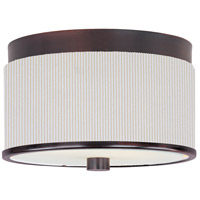 ET2 E95100-102OI Elements 2 Light 10 inch Oil Rubbed Bronze Flush Mount Ceiling Light in Amber Lava, White Pleat