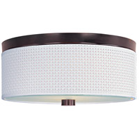 Elements 3 Light 14 inch Oil Rubbed Bronze Flush Mount Ceiling Light in White Weave