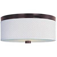 ET2 E95102-100OI Elements 3 Light 14 inch Oil Rubbed Bronze Flush Mount Ceiling Light in White Weave