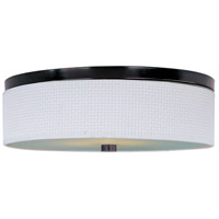 Elements 3 Light 20 inch Oil Rubbed Bronze Flush Mount Ceiling Light in White Weave