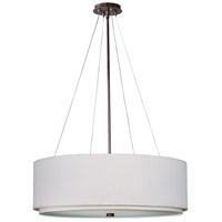 Elements 4 Light 23 inch Oil Rubbed Bronze Pendant Ceiling Light in White Weave