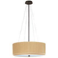 Elements 4 Light 23 inch Oil Rubbed Bronze Pendant Ceiling Light in Grass Cloth