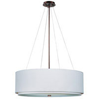 Elements 4 Light 29 inch Oil Rubbed Bronze Pendant Ceiling Light in White Weave