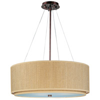 Elements 4 Light 29 inch Oil Rubbed Bronze Pendant Ceiling Light in Grass Cloth