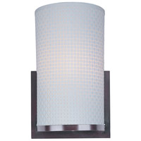 Elements 1 Light 7 inch Oil Rubbed Bronze Wall Sconce Wall Light in White Weave