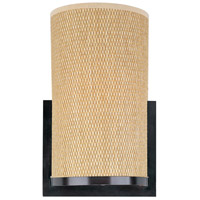 Elements 1 Light 7 inch Oil Rubbed Bronze Wall Sconce Wall Light in Grass Cloth
