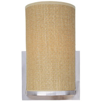 Elements 1 Light 7 inch Satin Nickel Wall Sconce Wall Light in Grass Cloth