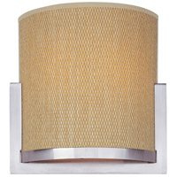 Elements 2 Light 11 inch Satin Nickel Wall Sconce Wall Light in Grass Cloth